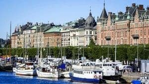 Stockholm Waterfront with Boats, Sweden