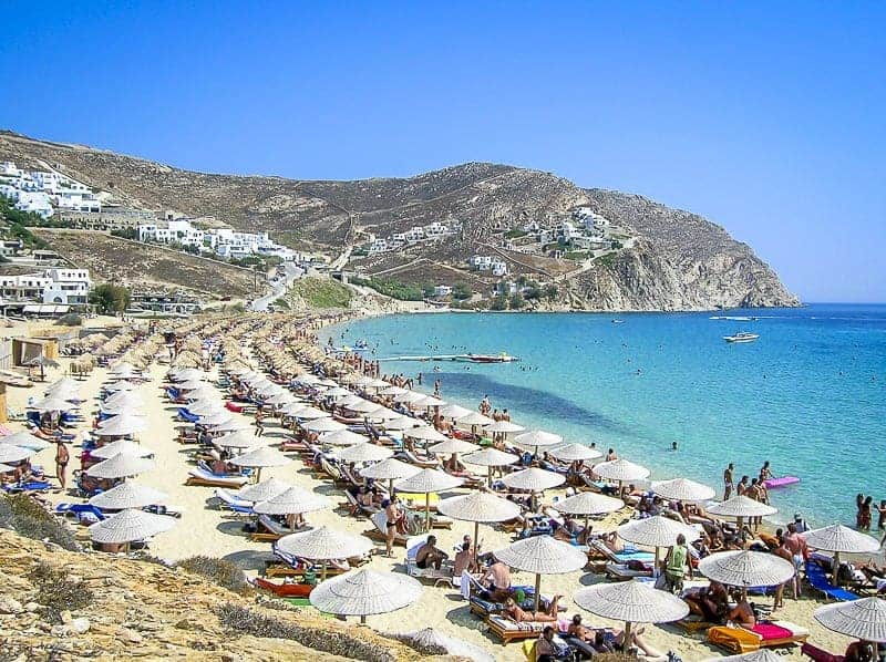 Elian Beach in Mykonos