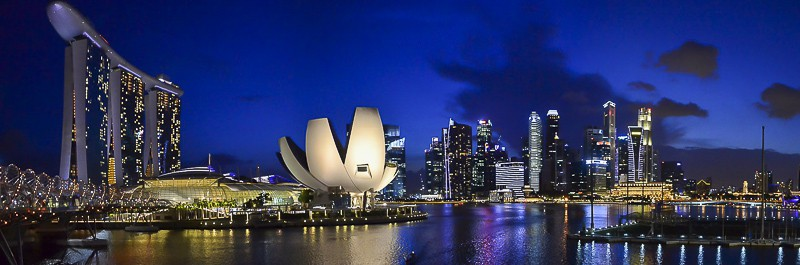 Singapore Marina Bay Night Landscape