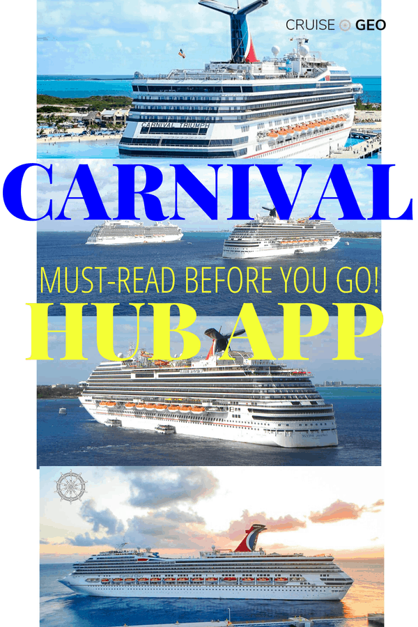 Carnival Hub App with a Cruise Ship