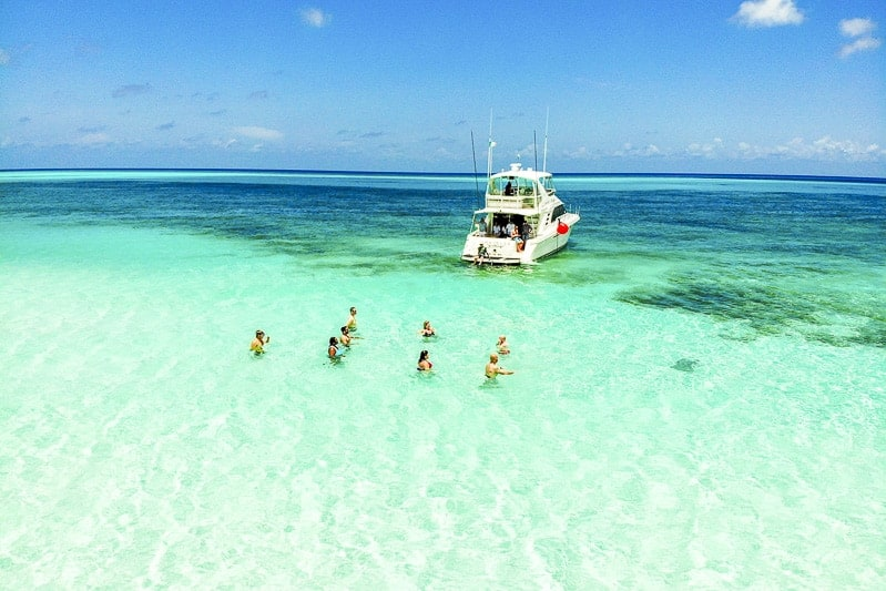 Cozumel Beaches with beautiful water and limestones.