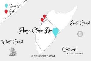 Playa Chen Rio Map