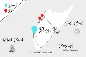 Playa Mia Map