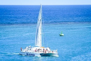 Sailing with a Catamaran in Cozumel, Mexico