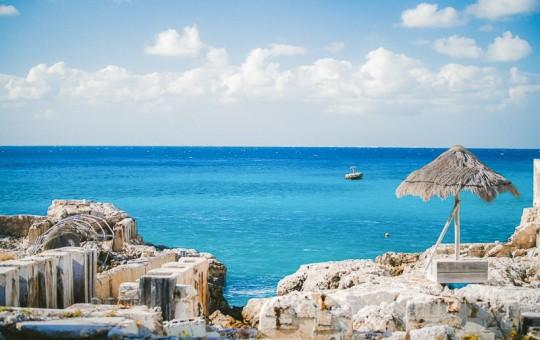 Cozumel Beach with Rocks