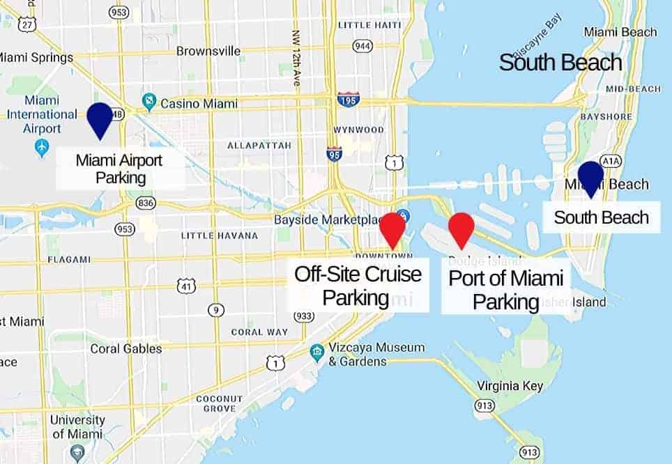 Port of Miami for Parking Map