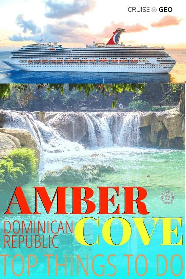 Amber Cove Dominican Republic with Cruise Ship and Waterfalls